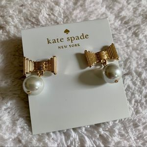 Kate Spade bow and pearl earrings